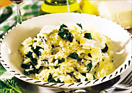 Spinat-Risotto